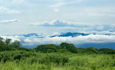 Ribbon of Clouds around Puerto Vallarta Mountains