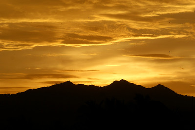 Yellow Sunset and Hills of Nayarit, Mexico