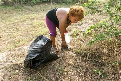 Woman Volunteer Collecting Litter, San Blas, 2009