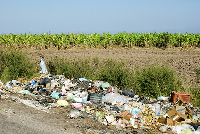 Illicit Roadside Garbage Dump, Mexico