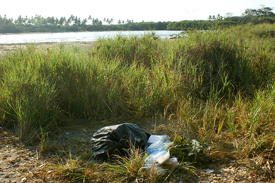 Garbage from Picnic at edge of Rio Cristobal, Mexico