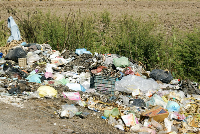 Illegal Dump of Garbage in Mexico