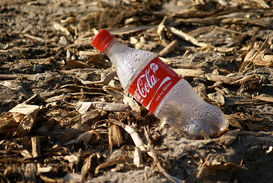 Plastic Coke Bottle Litter, Mexico