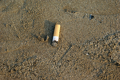 Cigarette Butt on Beach
