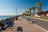 The seaside promenade facing the Sea of Cortez in Loreto, Baja California Sur, Mexico.
