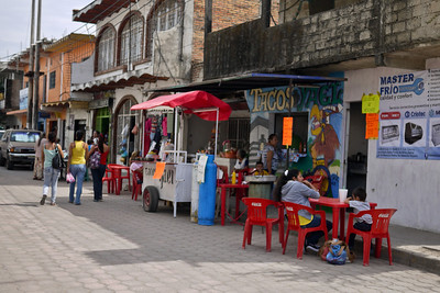 Street side eats in La Penita