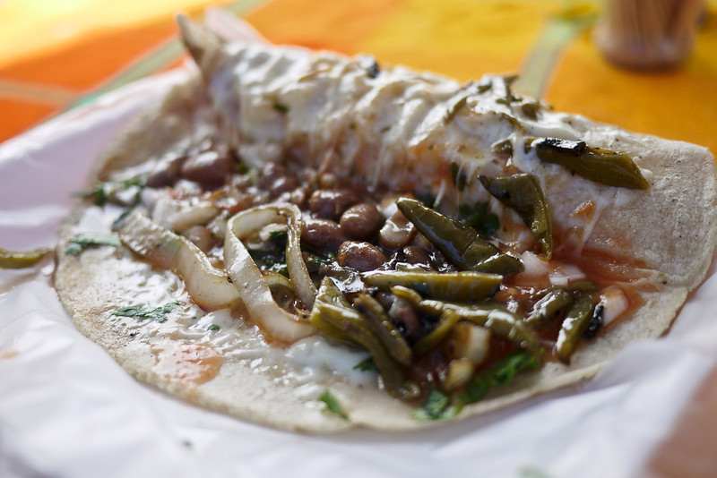 Quesadilla from La Penita market.