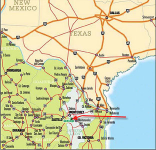 Santiago is 40 min south of Monterrey, 8 hrs from Austin<br /> in the Mexican state of Nuevo Leon