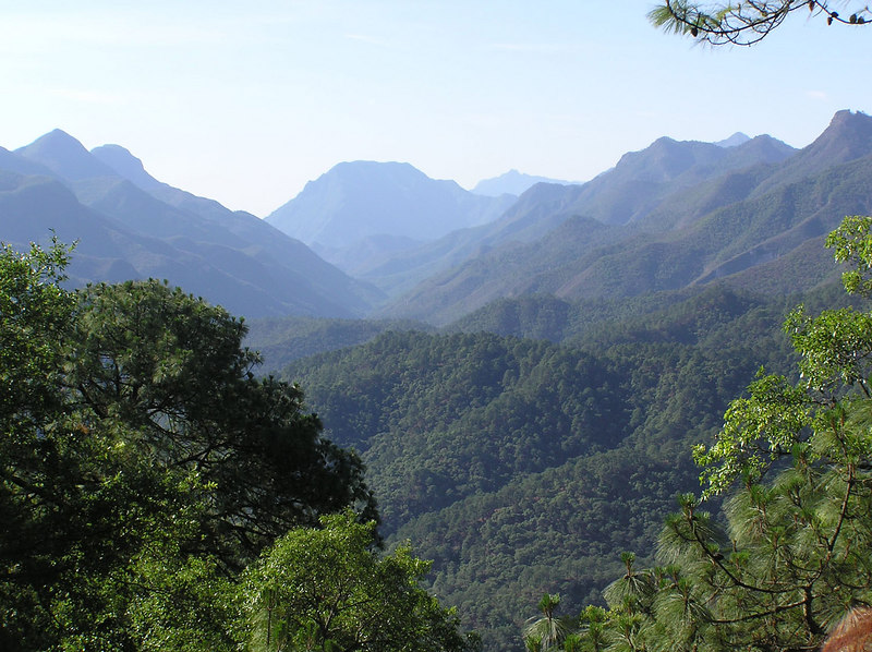 The Sierra Madre Oriental, looking back towads Cola de Caballo and the Gulf coast.