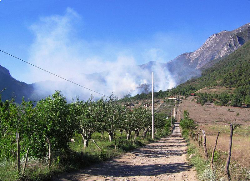 Fire in Laguna de Sanchez.<br /> This one I didn't start.