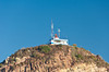 The lighthouse on the hill at the entrance to Mazatlan harbor, Mexico.