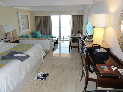 Our room at the Fiesta Americana Grand Coral Beach resort.  It was a great room with a million dollar view!