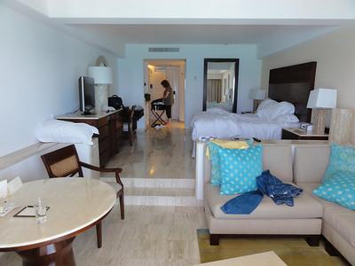 Our room in the Fiesta Americana Grand Coral Beach resort.