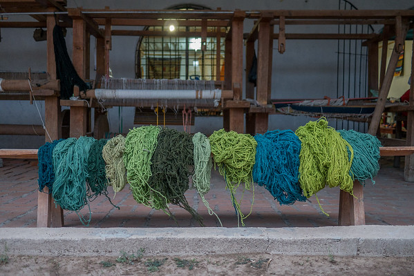 freshly dyed wool