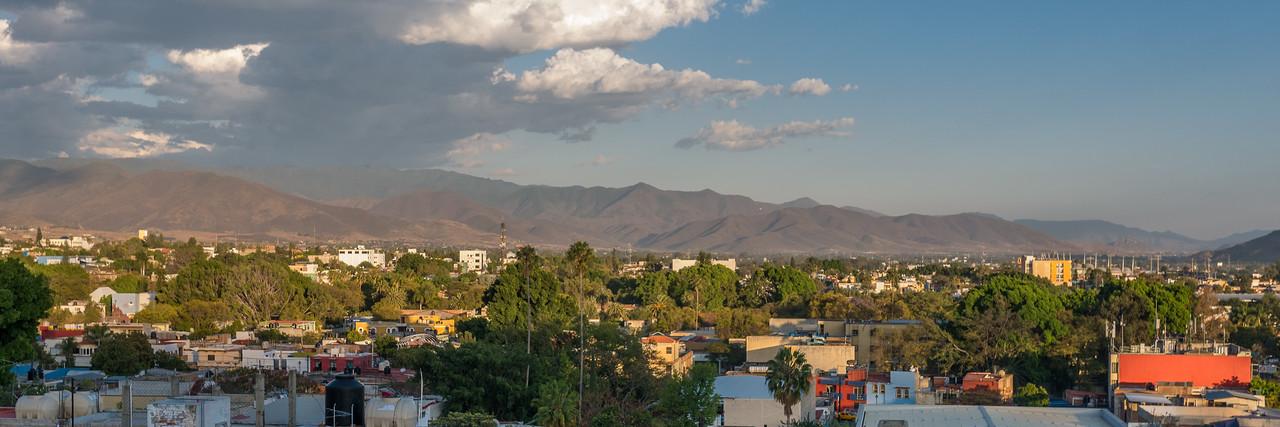 Sunet over Oaxaca Valley
