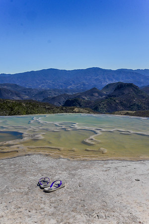swimming pools at hierve el agua