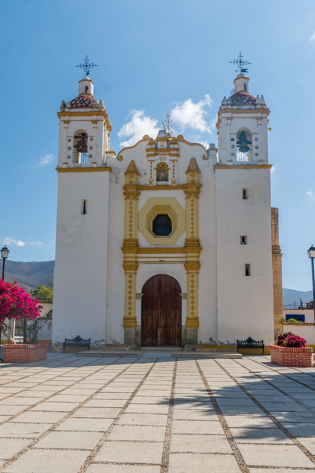 Iglesia in Santo Domingo Tomaltepec, Oaxaca Valley, Mexico