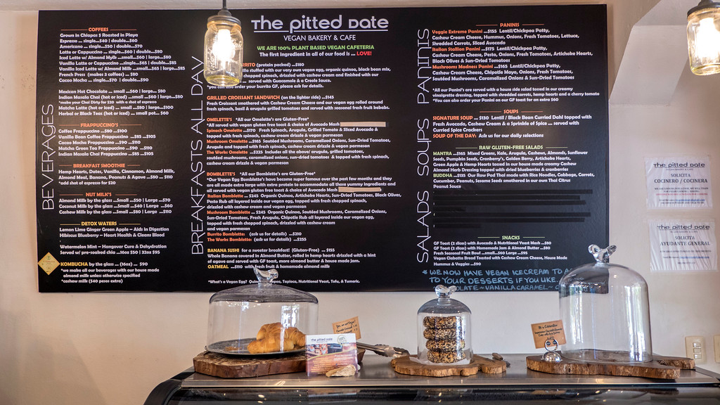 Vegan Playa Del Carmen: The Pitted Date Menu