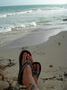 Flip flops are my friends...oh, and the ocean as well! Until my flip flops got swiped!