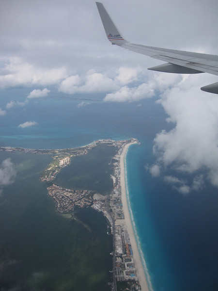 The plane ride over Mexico; I'll take this view any day!