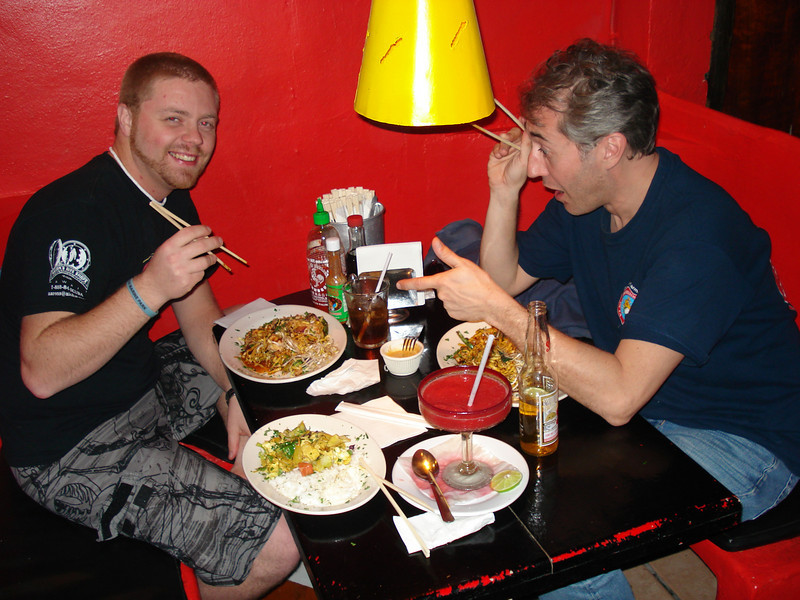 Jeff and Dai eating at a great little Thai food place....it was GOOD! And yes, for those of you who know Jeff well enough, THIS was surprising:)