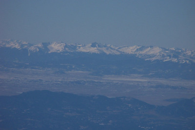 Pikes Peak is the dark one in the foreground.