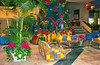 Holiday Inn Hotel lobby decorated for Christmas in Puerto Vallarta, Mexico.