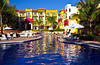 One of the swimming pools at the Decameron Resort in Puerto Vallarta, Mexico.