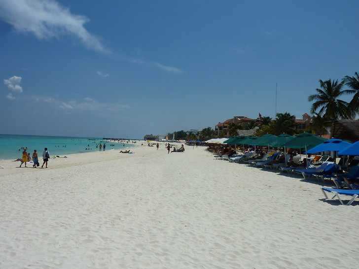 White sand beach, Playa del Carmen - Mexico