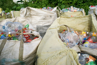 Jumbo Bags full of Plastic Bottles for Recycling, Mexico 2010