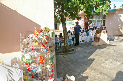 Recycling Basket in Mexican Primary School