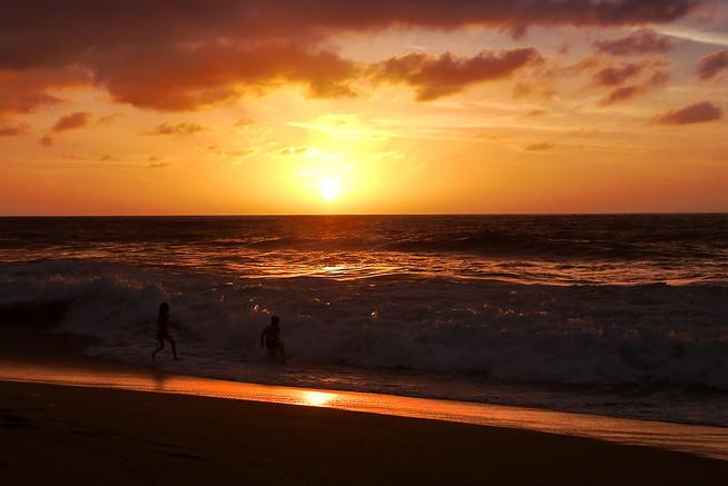 sunset in San Pancho