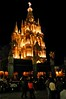 Parroquia Lit at Night