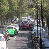 through the dense traffic...
