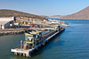 The industrial port of Topolobampo on the Sea of Cortez, Mexico.