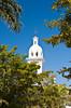 The Sagrado Corazon de Jesus Church bell tower in Los Mochis, Sinaloa, Mexico.