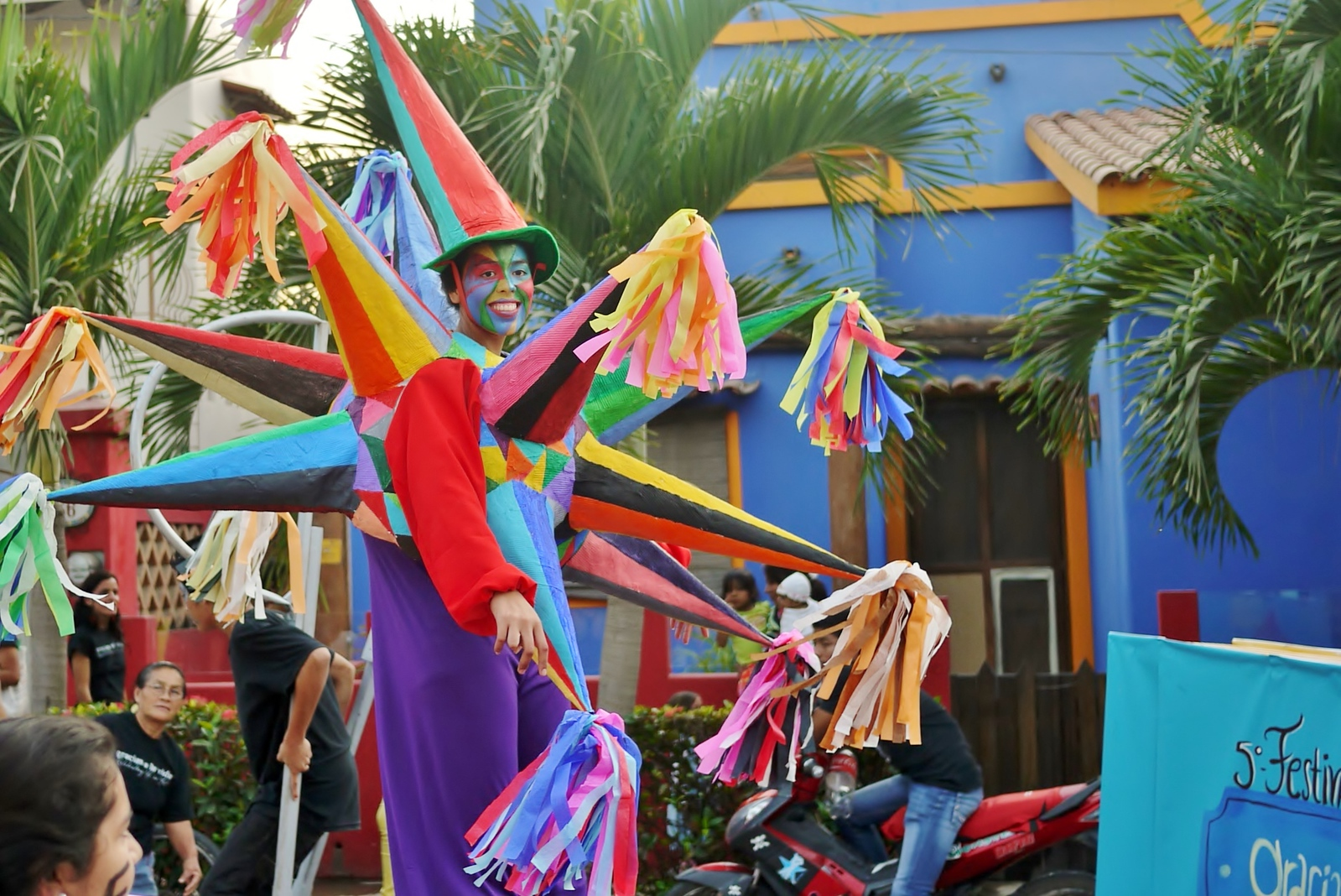 Fun characters showcased their circus skills in the annual Children's Festival parade organized by the town's community center.