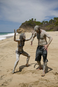a mud beach in near San Pancho, Mexico