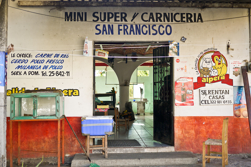 The caniceria, or meat-shop, in San Pancho, Mexico.