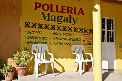 Polleria Magaly, a shop selling chick in San Pancho, Mexico.