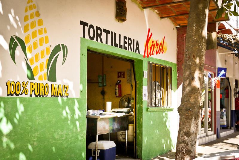 The tortilla shop in San Pancho, Mexico.