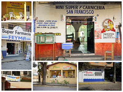 Specialty shops and businesses in San Pancho, Mexico