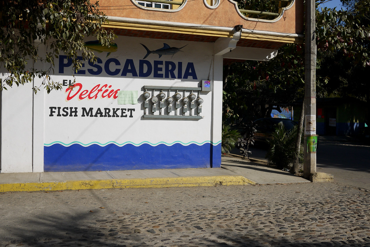 Pescaderia, a fish shop, in San Pancho, Mexico.