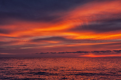 One of the gorgeous nightly sunsets in San Pancho, Mexico