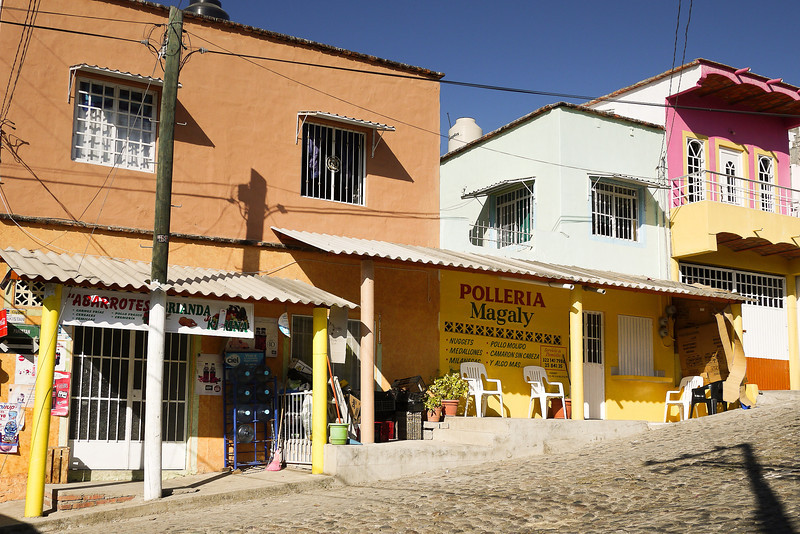 Polleria, the chicken shop in San Pancho, Mexico.