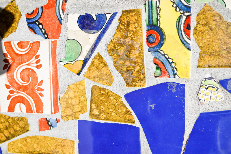 Mexican tiles laid into the concrete in the pretty town of San Pancho, Mexico.