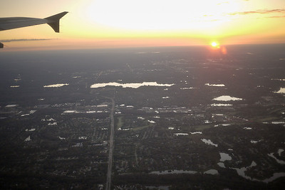 Flying out of Tampa, Florida on my way to Mexico.