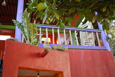 Colorful house in San Pancho, Mexico.