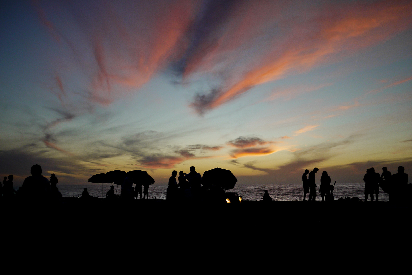 Sunset in San Pancho during Semana Santa week