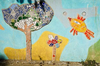 Pretty tile art work decorating the streets of San Pancho, Mexico.